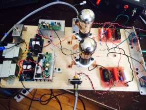 Early breadboard test with Gyrator Ales design